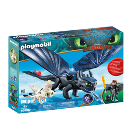 Playmobil Hiccup and Toothless with Baby Dragon