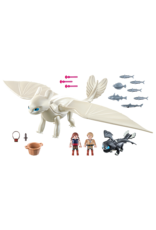 Playmobil Light Fury with Baby Dragon and Children