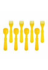 Re-Play Re-Play 8 Utensils - Sunny Yellow