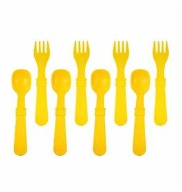 Re-Play 8 Utensils - Sunny Yellow