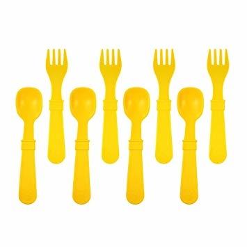 Re-Play 8 Utensils - Sunny Yellow