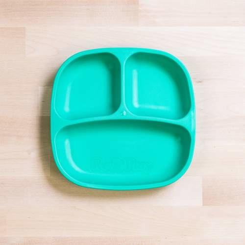 Re-Play Divided Plate - Aqua