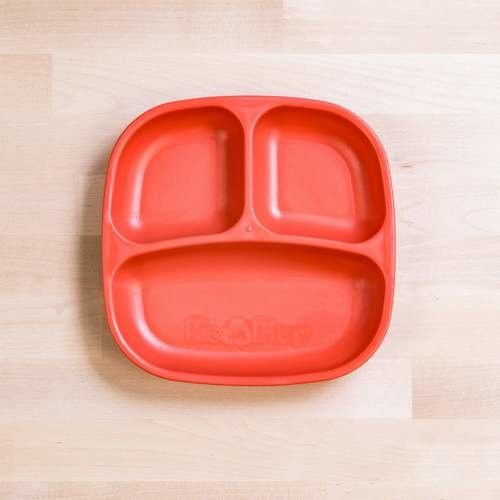 Re-Play Re-Play Divided Plate - Red
