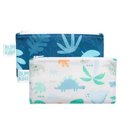 Bumkins Reusable Snack Bag 2 Pack Blue