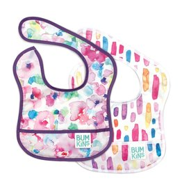 Bumkins Stater Bib 2 Pack Watercolour/Flower