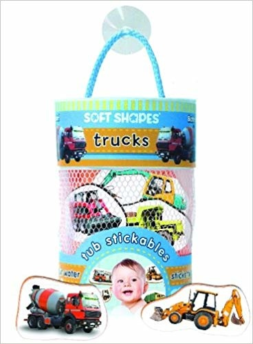 iKids Soft Shapes Tub Stickables -Trucks