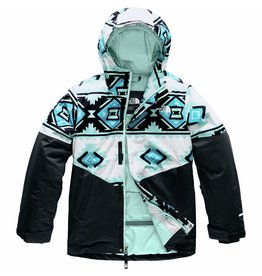 The North Face Girls' Brianna Insulated Jacket TNF White Tribal Print