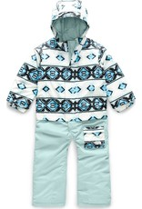 The North Face Toddler Insulated Jumpsuit TNF White Tribal