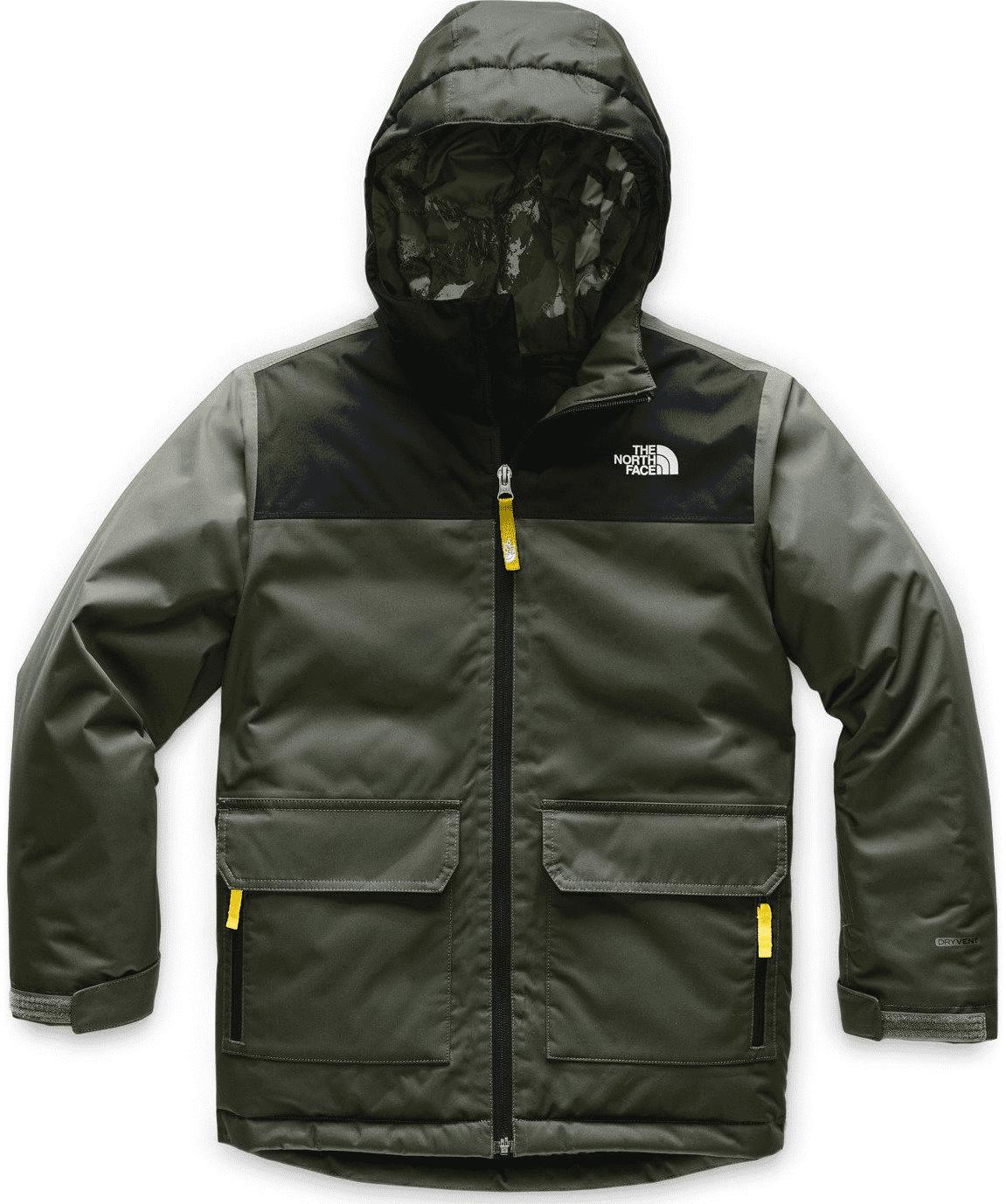 The North Face Boys Freedom Insulated Jacket New Taupe/TNF Black