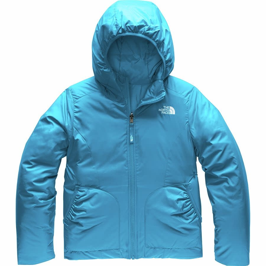 The North Face Girls Reversible Perrito Jacket Acoustic Blue