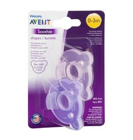 Avent Soothie Shapes 0-3 Month Pink/Purple