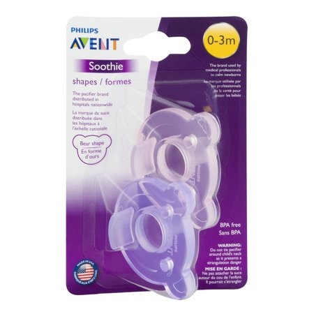 Avent Philips AVENT Soothie Shapes 0-3 Month Pink/Purple