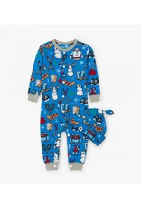 Navy Winter Traditions Baby Coverall & Hat