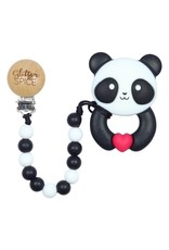 Glitter & Spice Whistle & Flute Kawaii Panda Teether with Clip