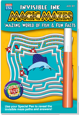Lee Publications Invisible Ink Magic Mazes Fish