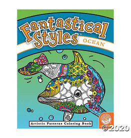 Outset Media Fantastical Styles: Ocean Coloring Book