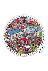 Janod Round Puzzle Firemen - 208pcs
