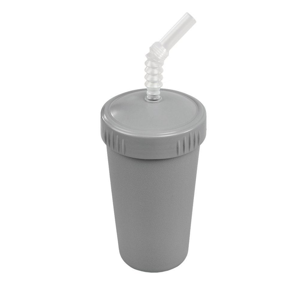 Re-Play Straw Cup with Lid & Straw Grey