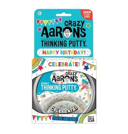 Crazy Aaron's Thinking Putty Celebrate! With Greeting Card and Stickers