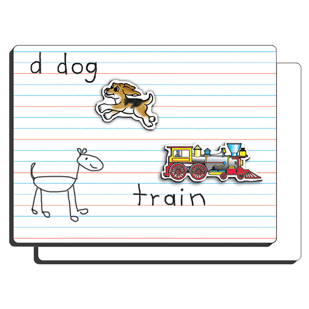 PlayMonster Lined Magnetic Dry-Erase Board