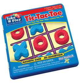 PlayMonster Take 'n' Play Tic-Tac-Toe Game Tin (Bilingual)