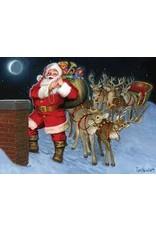 Cobble Hill Santa by the Chimney (tray)