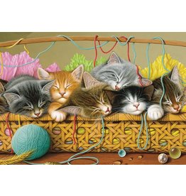 Cobble Hill Kittens in Basket (tray) Puzzle