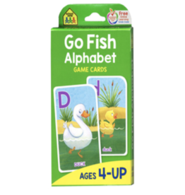 School Zone Publishing Company Go Fish Alphabet Games Cards