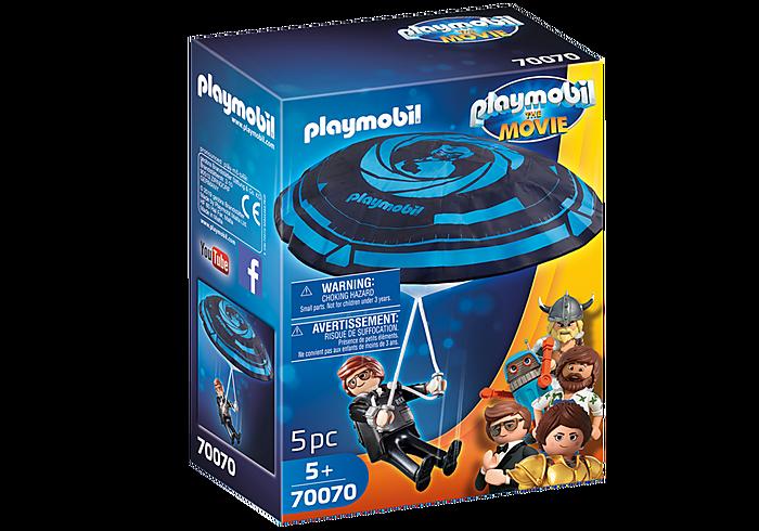 Playmobil THE MOVIE Rex Dasher with Parachute