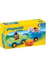 Playmobil 1.2.3 Car with Horse Trailer