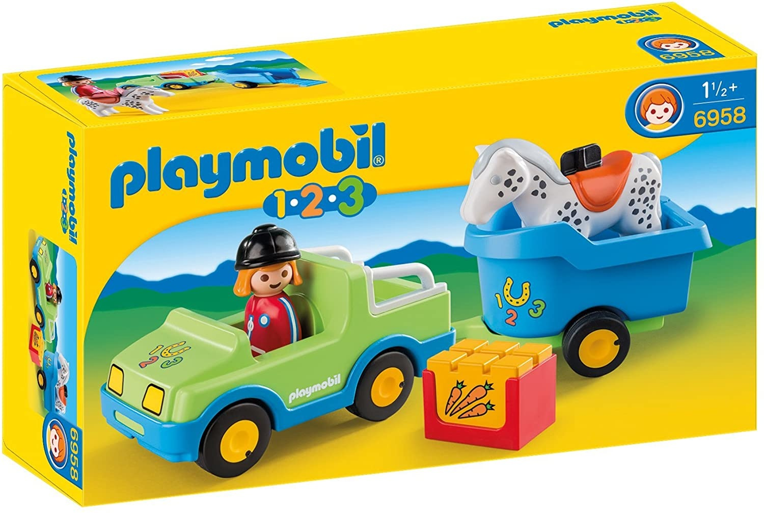 Playmobil Car with Horse Trailer 123