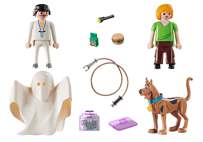 Playmobil Scooby-Doo! Scooby & Shaggy w/ Ghost