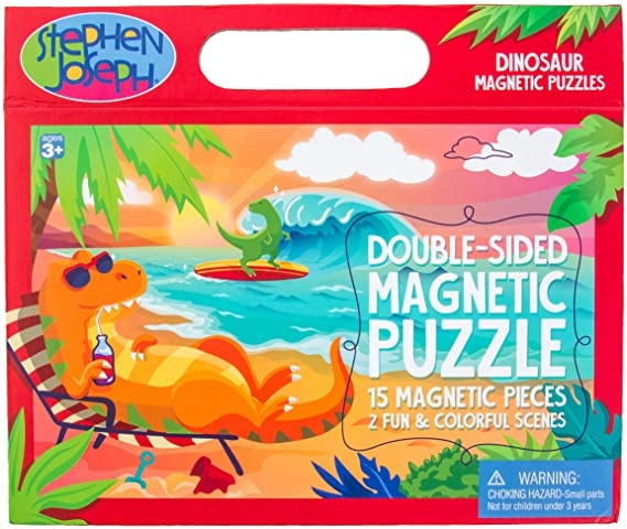 Stephen Joseph Double Sided Magnetic Puzzle Dino
