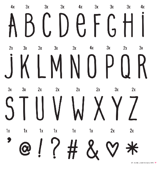 A Little Lovely Company Lightbox letter set: ABC black
