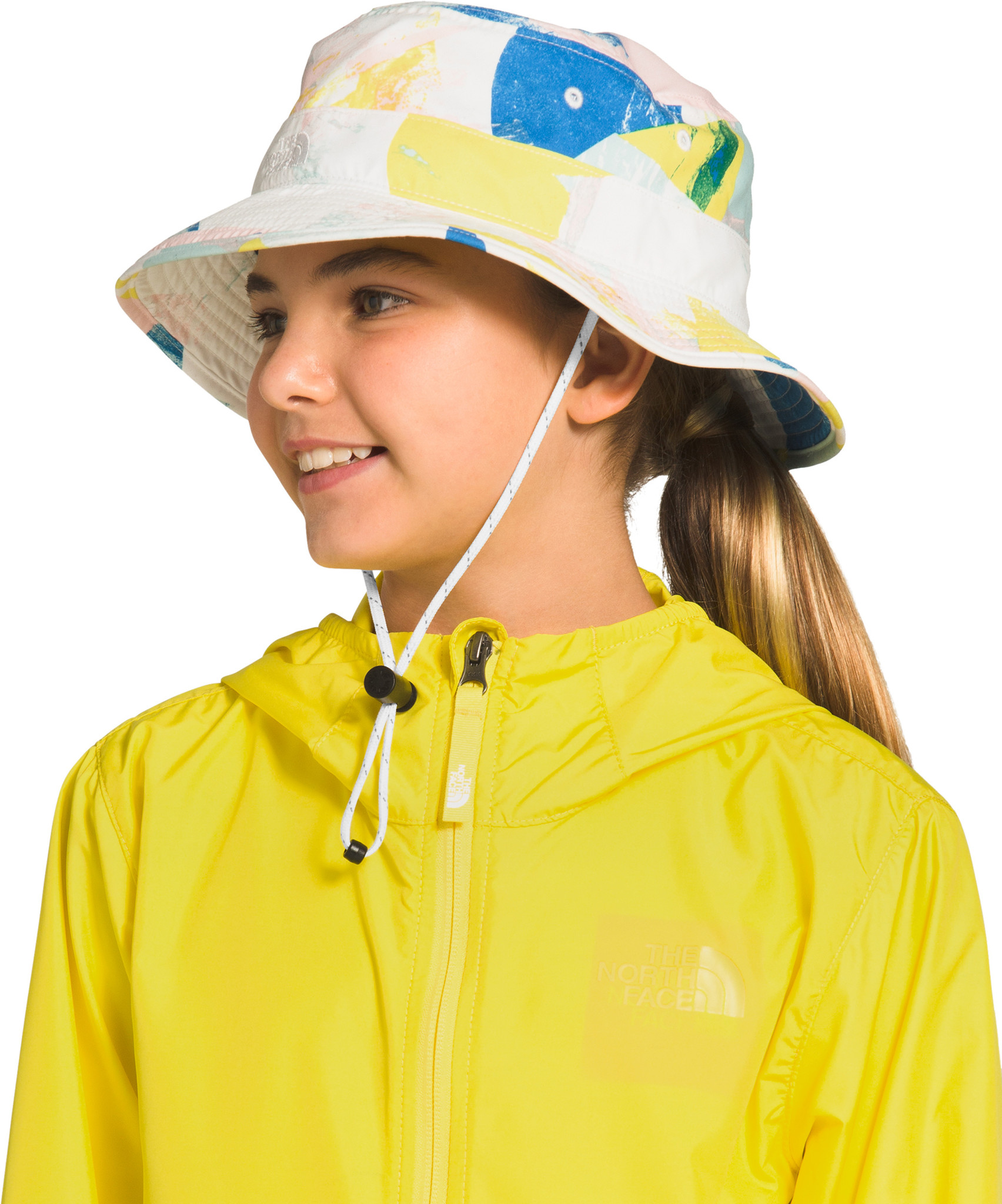 The North Face Youth Class V Brimmer Hat TNF White Geo Print