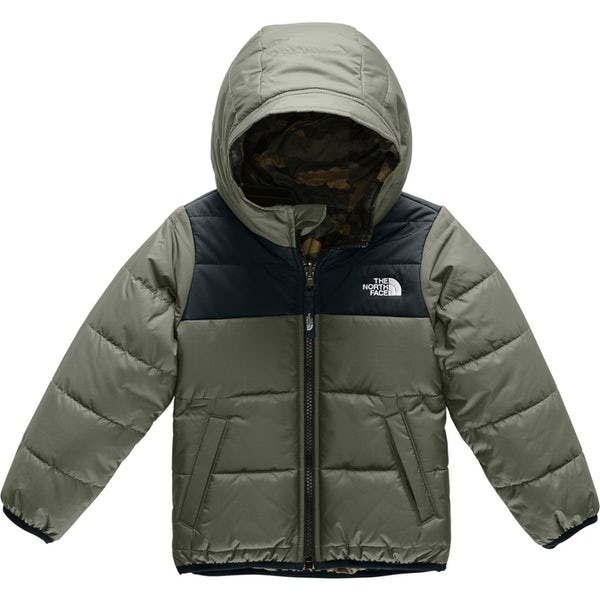 The North Face Boys' Reversible Perrito Jacket New Taupe Green/TNF Black