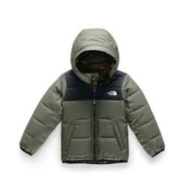 The North Face Toddler Boys' Reversible Perrito Jacket New Taupe Green/TNF Black