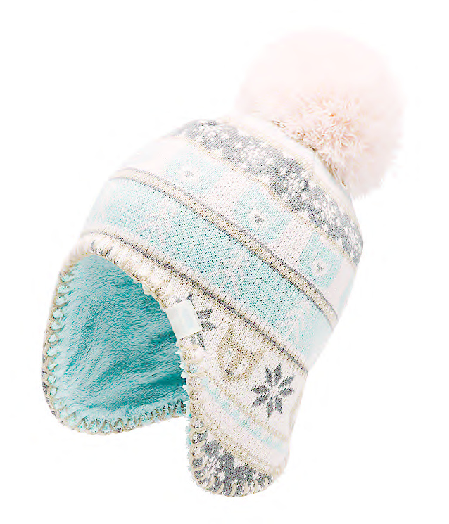 The North Face Baby Faroe Beanie Windy Blue/Purdy Pink Multi