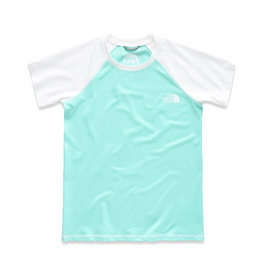The North Face Girls' Amphibious Short Sleeve Tee Mint Blue
