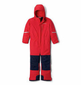 Columbia  Youth Buga II Suit - Mountain Red, Collegiate Navy
