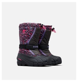 Sorel Children's Flurry Print Dark Grey, Pink Glo