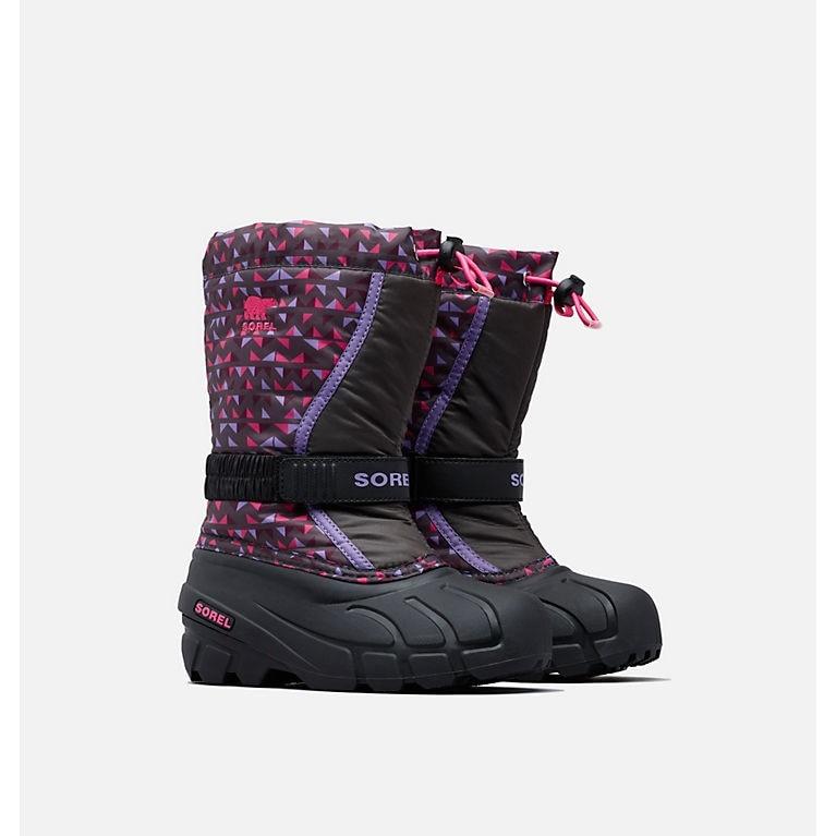Sorel Children's Flurry Print Dark Grey, Pink Glo