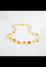 Healing Amber Gold Amber and Rose Quartz - 11 Inch
