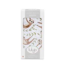 Lulujo Lulujo Swaddle Blanket Modern Sloth