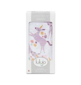 Lulujo Lulujo Swaddle Blanket Modern Unicorn