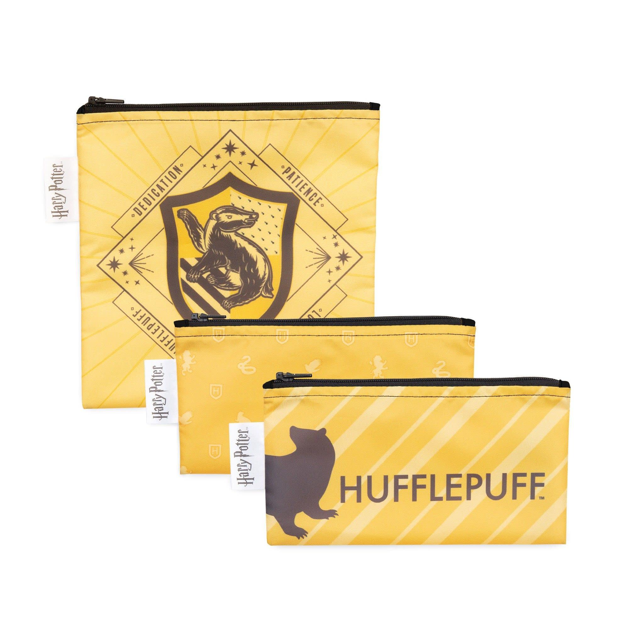 Bumkins Harry Potter Snack Bag 3pk Hufflepuff