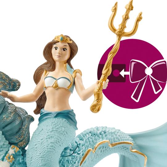 Schleich Mermaid Eyla Riding Underwater Horse 70594