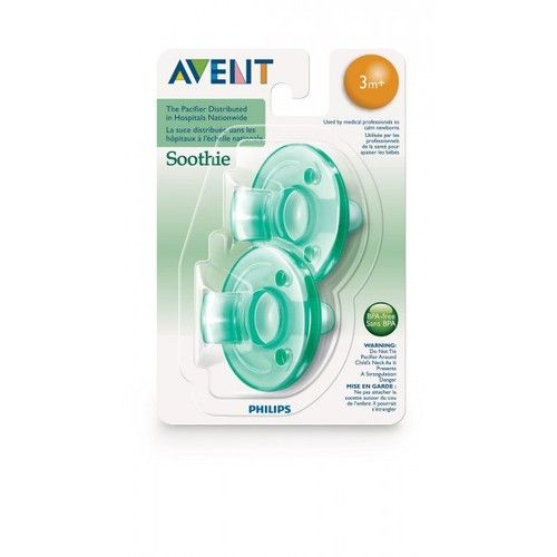 Avent Soothie 0-3M - Green 2 Pack