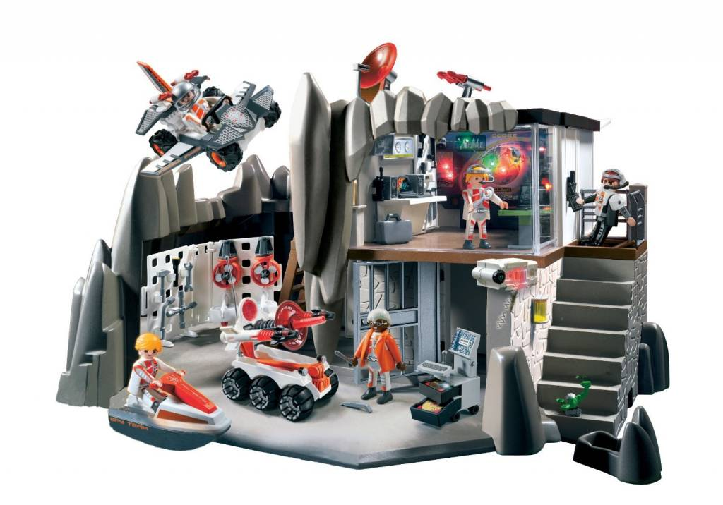 Playmobil Secret Agent Headquarters with alarm system