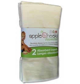 AppleCheeks 2 Layer Bamboo Insert 2 pack